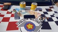 Rapaz de 20 anos é preso em flagrante pela Polícia Militar, por tráfico de drogas