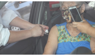 Em nova etapa será aplicada a 1ª dose da vacina nos idosos que tem 65 e 66 anos, em Lucélia (Foto: GovSP).