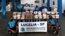 Diretoria de Esportes arrecada cestas básicas e entrega para o Fundo Social