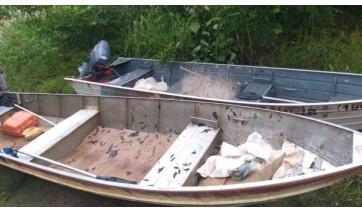 PM Ambiental faz flagrante de pesca predatória no Rio Aguapeí, em Lucélia