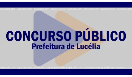 Concurso da Prefeitura de Lucélia terá provas no próximo domingo (12)