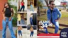 Coz Jeans realiza Mega Feirão em Lucélia com peças a preço único de R$ 34,90