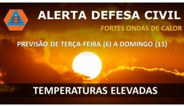 Defesa Civil do Estado emite alerta de calor intenso: sensação térmica pode ultrapassar os 45°C