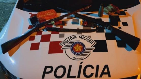 Irmãos são presos pela Polícia Militar em Pracinha por posse ilegal de arma de fogo