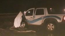 Caminhão canavieiro e camionete colidem na SP-294 em Lucélia