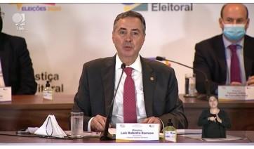 Ministro Luís Roberto Barroso, presidente do Tribunal Superior Eleitoral (Reprodução).