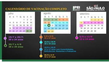 Antecipada a vacinação de adultos em SP e adolescentes serão imunizados a partir de 18 de agosto