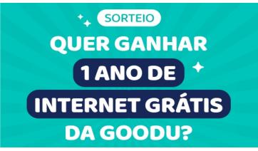 Campanha nas redes sociais da goodU vai sortear um ano de internet grátis