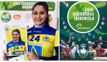 Na Espanha, onde joga, luceliense Isaura Menin vira figurinha em aplicativo de liga de handebol