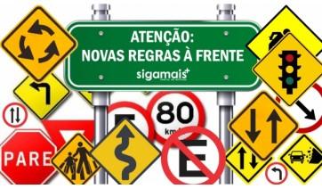 Novas regras do Código de Trânsito entram em vigor nesta segunda-feira, 12 de abril (Arte: Siga Mais).