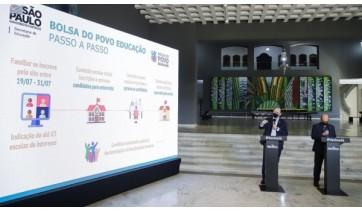 SP lança bolsa de R$ 500 para pais de estudantes da rede estadual