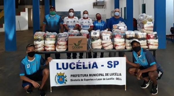 Alimentos foram arrecadados pela DELL junto a esportistas da cidade (Da Assessoria).
