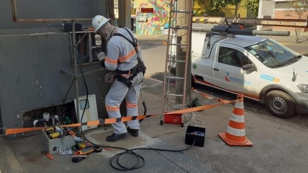 Equipes são mobilizadas para atuar no combate a furtos e fraudes de energia elétrica na região (Cedida/Energisa).