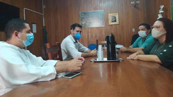 Frei Mateus, Renato, Marcos Lima e Tati Guilhermino (Da Assessoria).