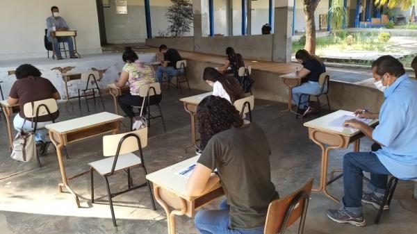 Provas foram realizadas na Diretoria Municipal de Trânsito e aplicadas por integrantes do Detran (Divulgação/PML).