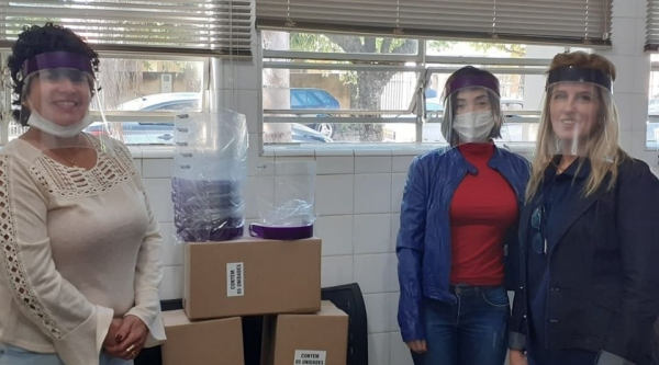 Na foto, integrantes da equipe da secretaria municipal de saúde de Lucélia: Luzia Coleta, Lucélia Peverari e Vânia Lopes (Divulgação).