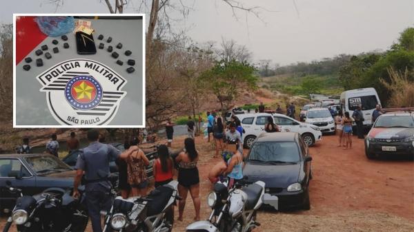 Após denúncia, Polícia Militar encontra aglomeração no Lajeado e faz prisões e apreensões ligadas ao tráfico de drogas no local   (Foto: Cedida/PM).
